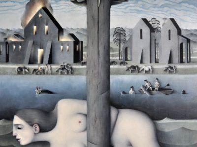 James Mortimer | Landscape with a Burning House