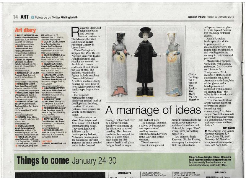 The Masque - feature in The Islington Tribune