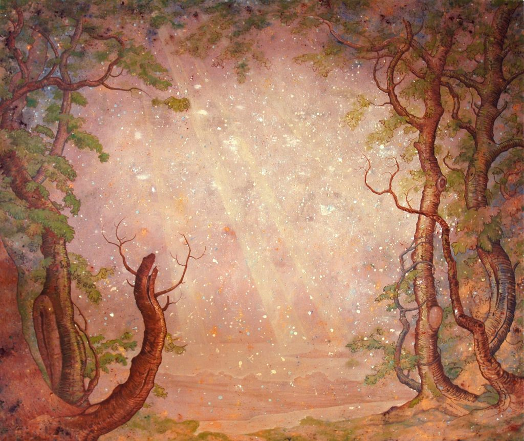 Paula Kane   Tree frame with sunbeams