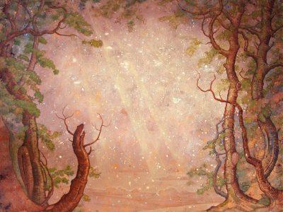Paula Kane | Tree frame with sunbeams