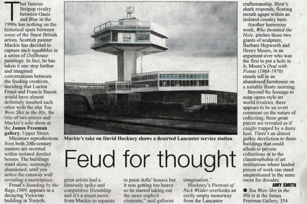 Feud for Thought: Mackie review in Islington Tribune