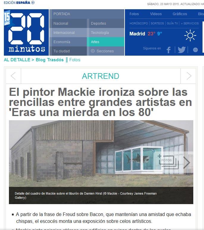 Mackie in 20 Minutos (Spain)
