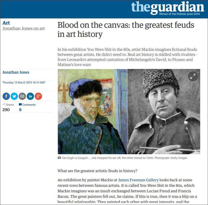 Mackie: Article by Jonathan Jones in the Guardian