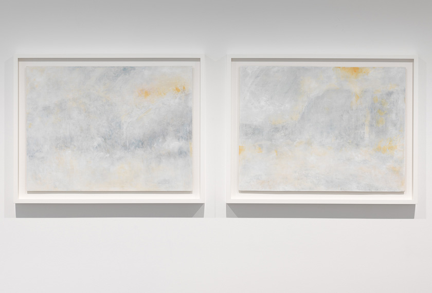 Richard Stone | there were fireworks in the sky (riffing on polke, turner too) (diptych)