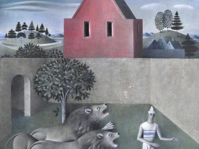 James Mortimer | Garden with lions