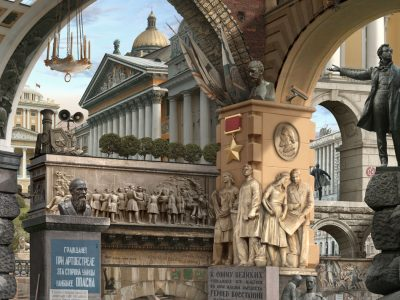 Emily Allchurch | Urban Chiaroscuro 8: St. Petersburg (after Piranesi)