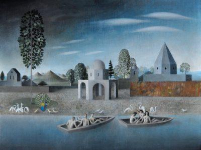 James Mortimer | Boats in a landscape