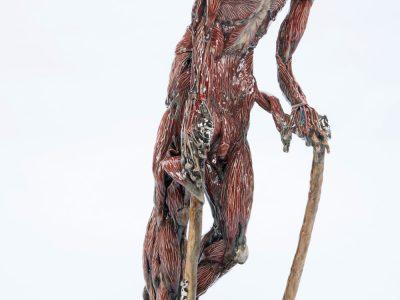 Carolein Smit | Skinned man with walking sticks