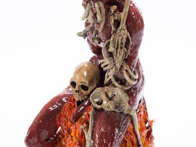 Carolein Smit | Skeleton devouring a red devil