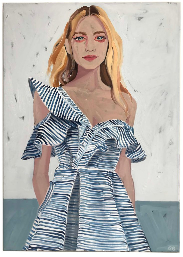 Gill Button | She wore blue stripes