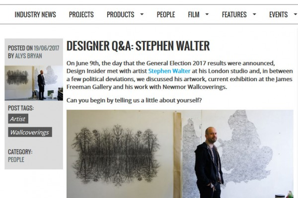 Stephen Walter: Design Insider Interview