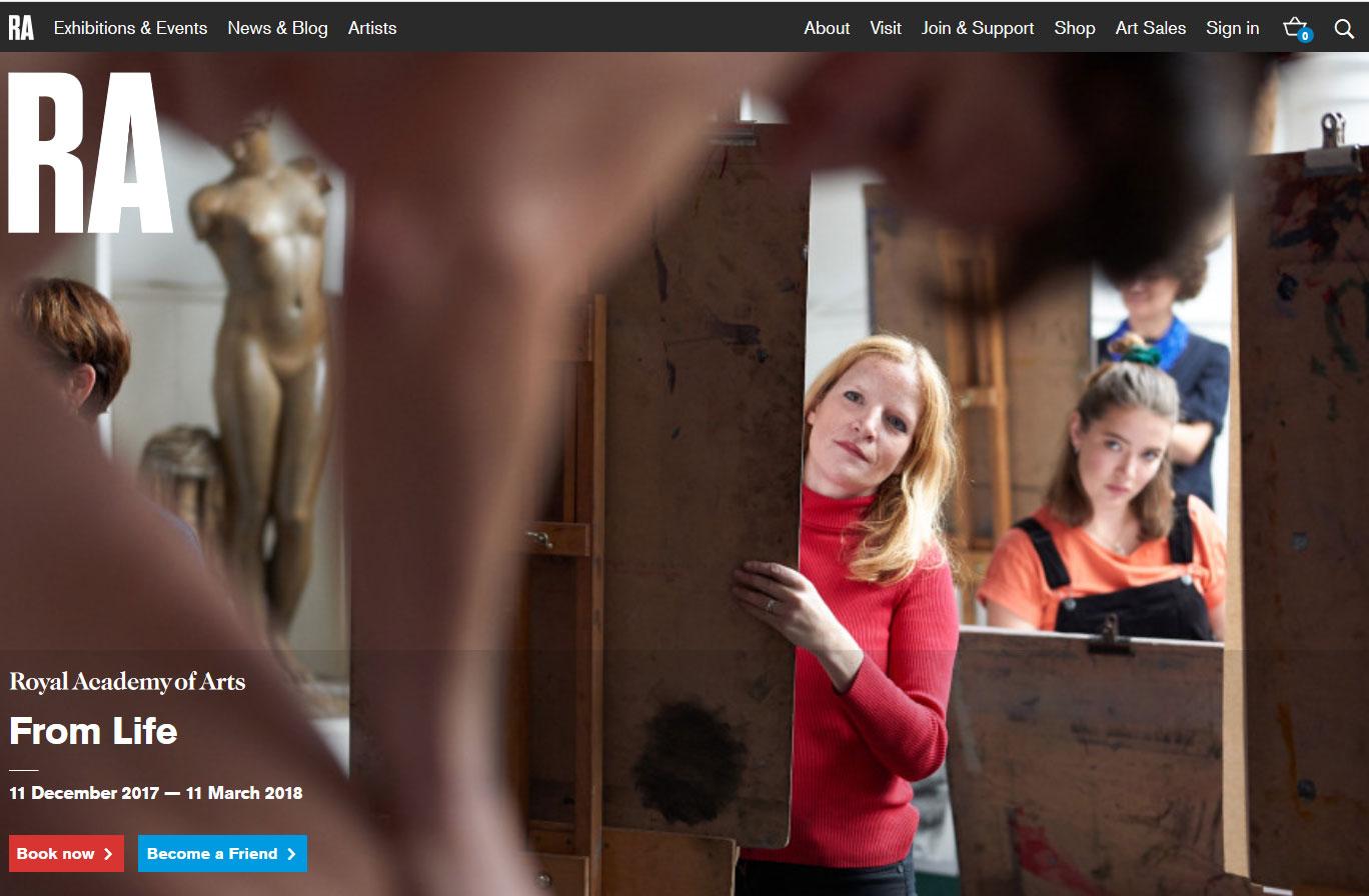 Liane Lang at the Royal Academy