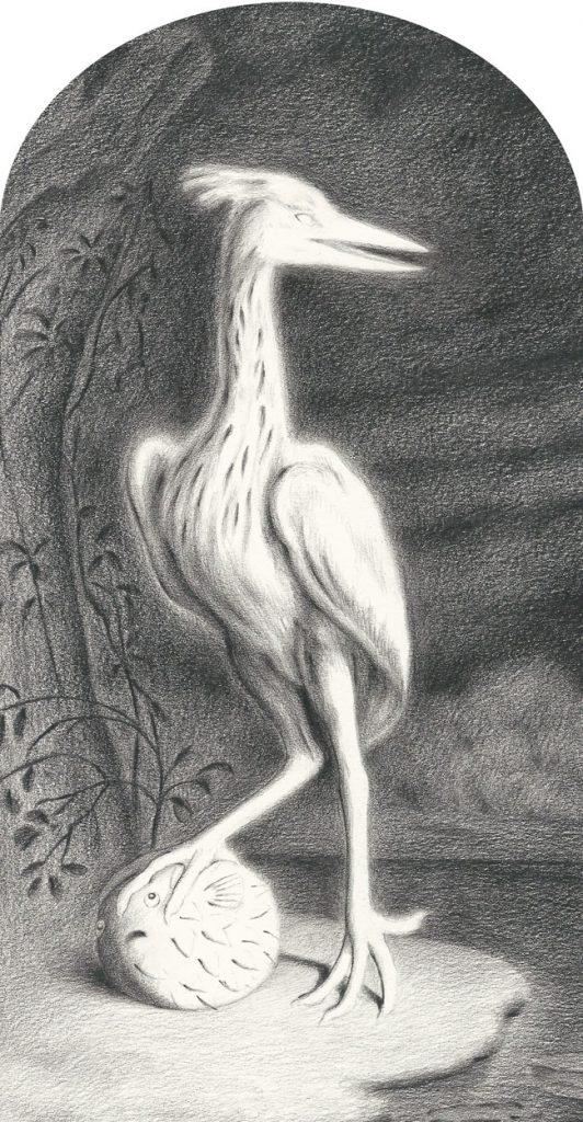 Sam Branton   Heron with Pufferfish