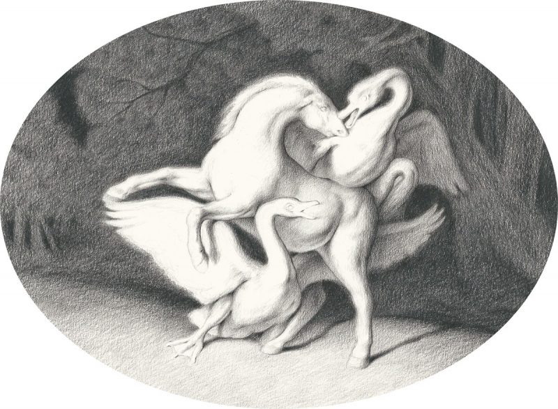Sam Branton  | Horse with Two Swans
