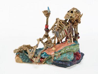 Carolein Smit | Skeleton with a Blue Bird
