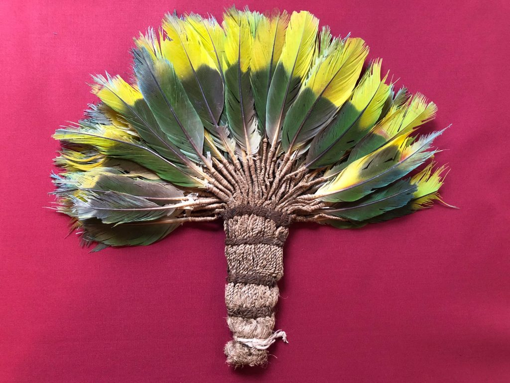 Nazca Culture   Feather Headdress (Fan?)