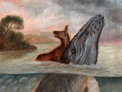 Monkey with Landscape Painting | Deer with Humpback Whale