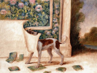 Monkey with Landscape Painting | Hound with Tapestry