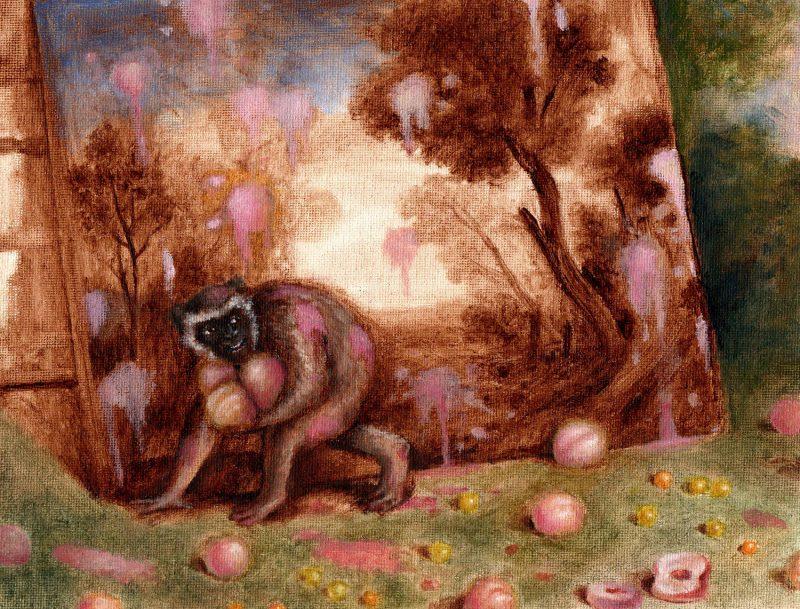 Sam Branton  | Monkey with Landscape Painting