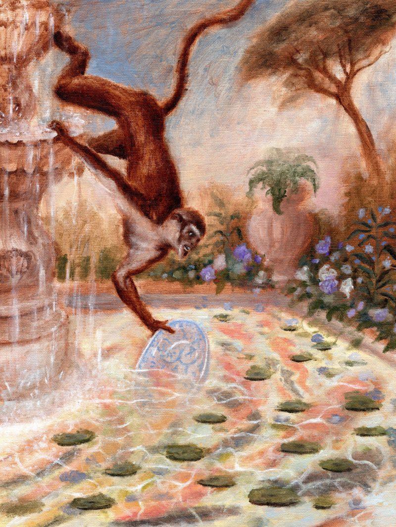 Sam Branton  | Monkey with Carps